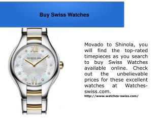 Buy Swiss Watches