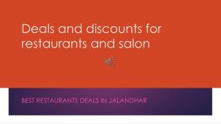 best restaurants deals and discounts in jalandhar
