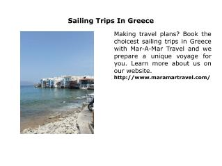 Sailing Trips In Greece