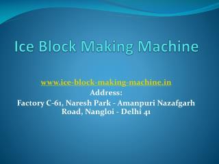 ice plant manufacturers in Delhi