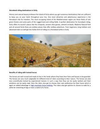 Vccation horseback riding