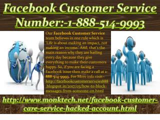 How to acquire Facebook Customer Service:-1-888-514-9993?
