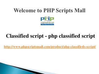 Classified script, php classified script, classified ad script php