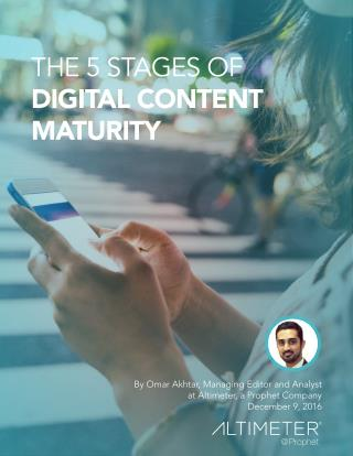 The 5 Stages of Digital Content Maturity