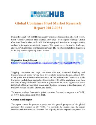 Global Container Fleet Market Research Report 2017-2021