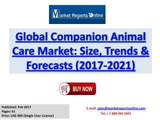 Companion Animal Care Market Size, Share and Research Report 2017
