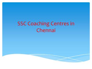 SSC Coaching Centres in Chennai