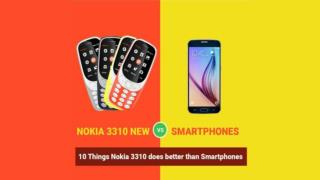 10 Things Nokia 3310 does better than Smartphones
