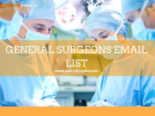 General Surgeons Email List