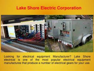 Electrical Equipment Manufacturer