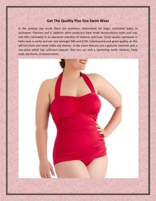Get The Quality Plus Size Swim Wear