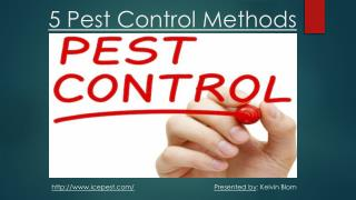 5 Pest Control Methods For Home