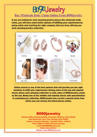 Buy Wholesale Body Chain Online From 8090Jewelry