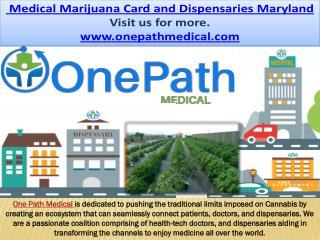 Maryland Medical Marijuana Card and Dispensaries