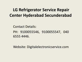 LG Refrigerator Service Repair Center Hyderabad Secunderabad