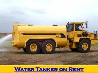 Water Tanker on Rent in Mumbai on daily & monthly basis