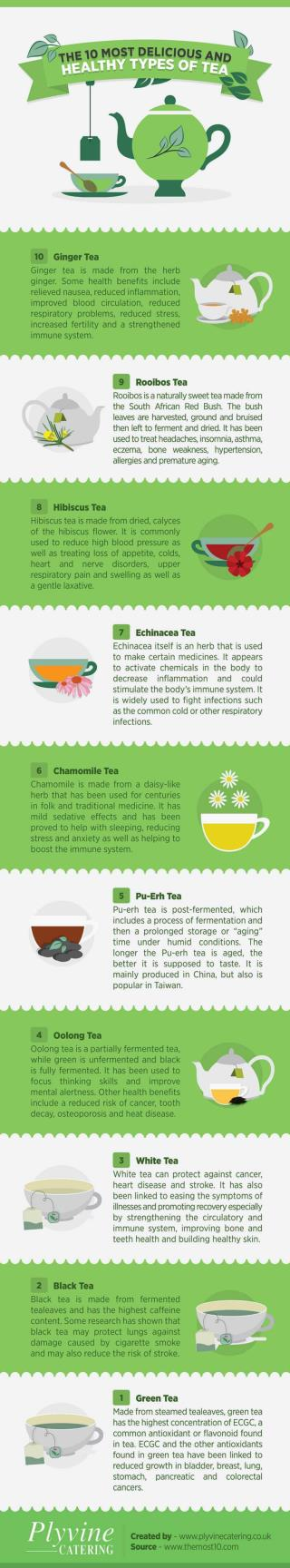 The 10 Most Delicious and Healthy Types of Tea