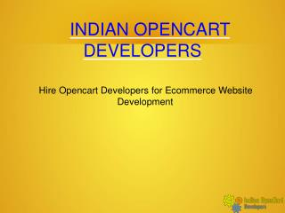 Hire Opencart Developers for Ecommerce Website Development