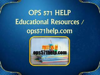 OPS 571 HELP Educational Resources - ops571help.com