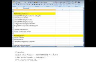 Oracle Fusion procurement online training