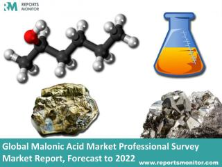 Malonic Acid Market Professional Survey Market - Global Industry Analysis 2022