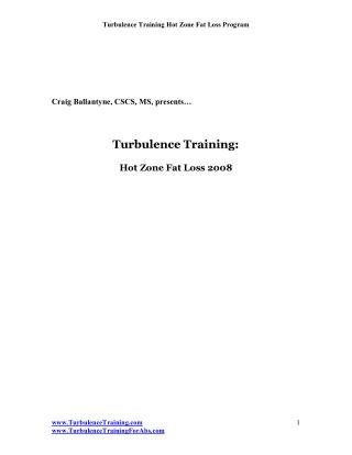 Turbulence Training: Hot Zone Fat Loss 2008