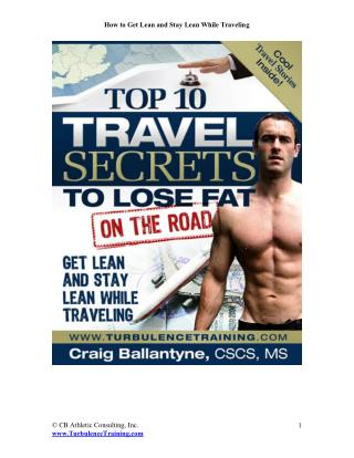 Top 10 Travel Secrets to Lose Fat on the Road