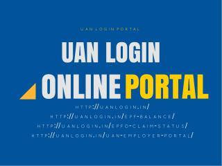 UAN Login UAN Member portal Login UAN passbook - UAN Login and EPFO login