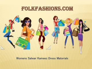 Womens Salwar Kameez Dress Materials Online in India | FolkFashions