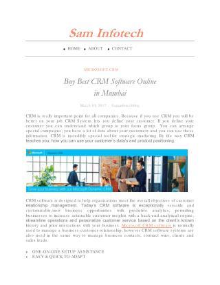Buy Best CRM Software Online in Mumbai