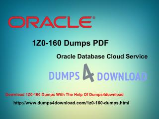 Oracle Updated 1Z0-160 Exam Dumps Questions