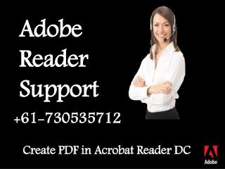 Create PDF in Acrobat Reader DC