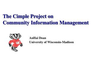 The Cimple Project on  Community Information Management