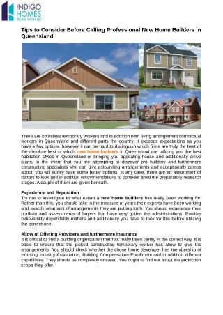Go on the web to Find Licensed New Home Builders in Queensland