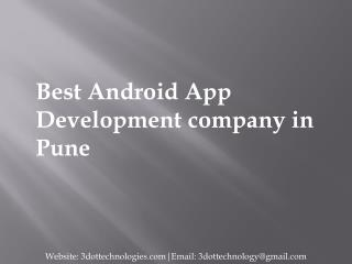 Android App Design & Development Company-Services in Pune | 3DOT Technologies