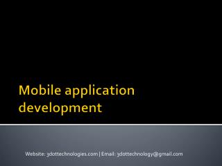 Android App Design & Development Company-Services in Pune   3DOT Technologies