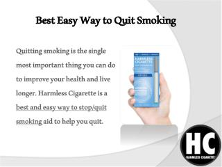 Best Easy Way to Quit Smoking