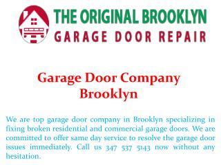 Garage Door Company Brooklyn