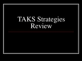 TAKS Strategies Review