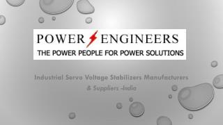 Industrial servo voltage stabilizers
