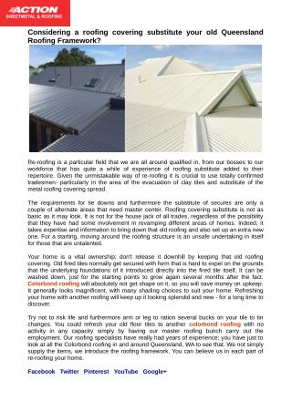 Colorbond Roofing Replacement in Queensland