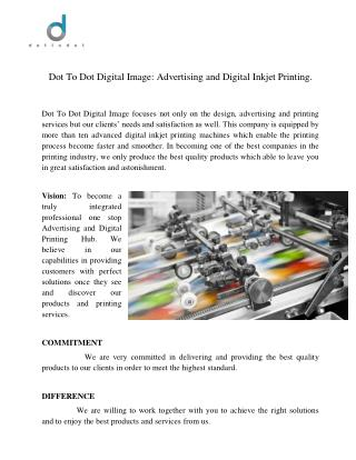 Printing Malaysia| Digital Printing  services| Dot2Dot