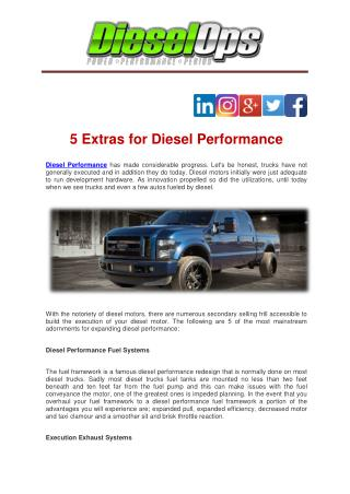 5 Extras for Diesel Performance