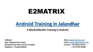 Android Training Institute in Jalandhar