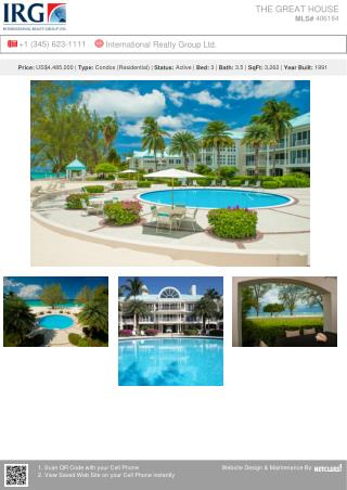 THE GREAT HOUSE - A spectacular ground floor home for sale in Cayman