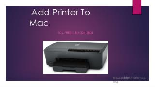 Add Printer To Mac