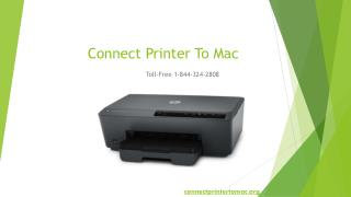 Connect Printer To Mac