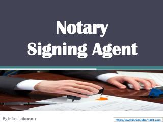 What is Notary Signing Agent