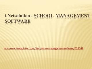 School Management Software - i-Netsolution