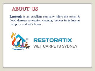 Find Expertise of Storm & Flood Damage Restoration Cleaning Services in Sydney